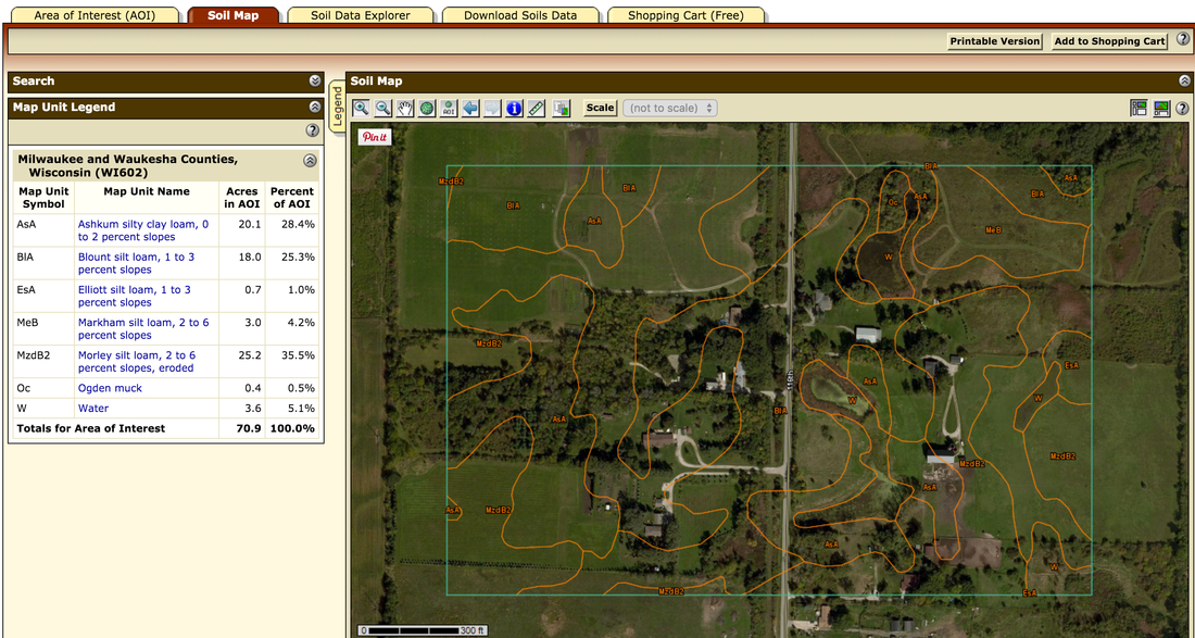 Soil Map of our land