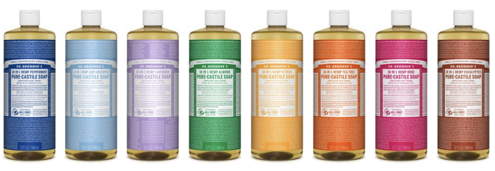 Dr. Bronners is a great natural shampoo option