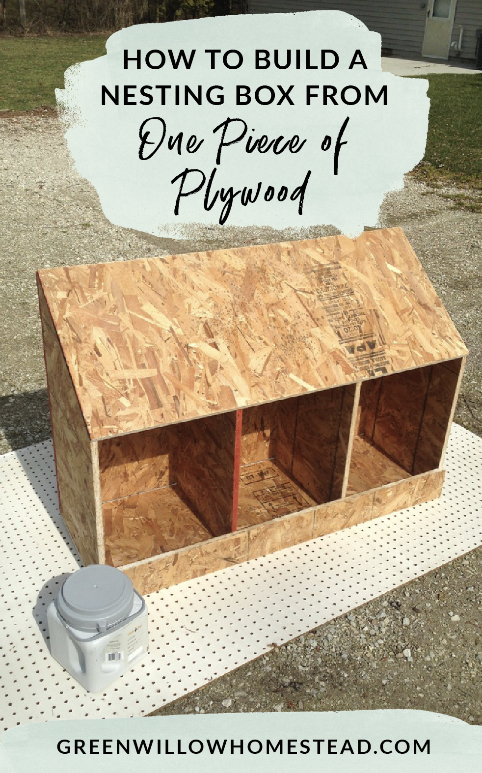 How to build a nesting box from one piece of plywood for your backyard chickens