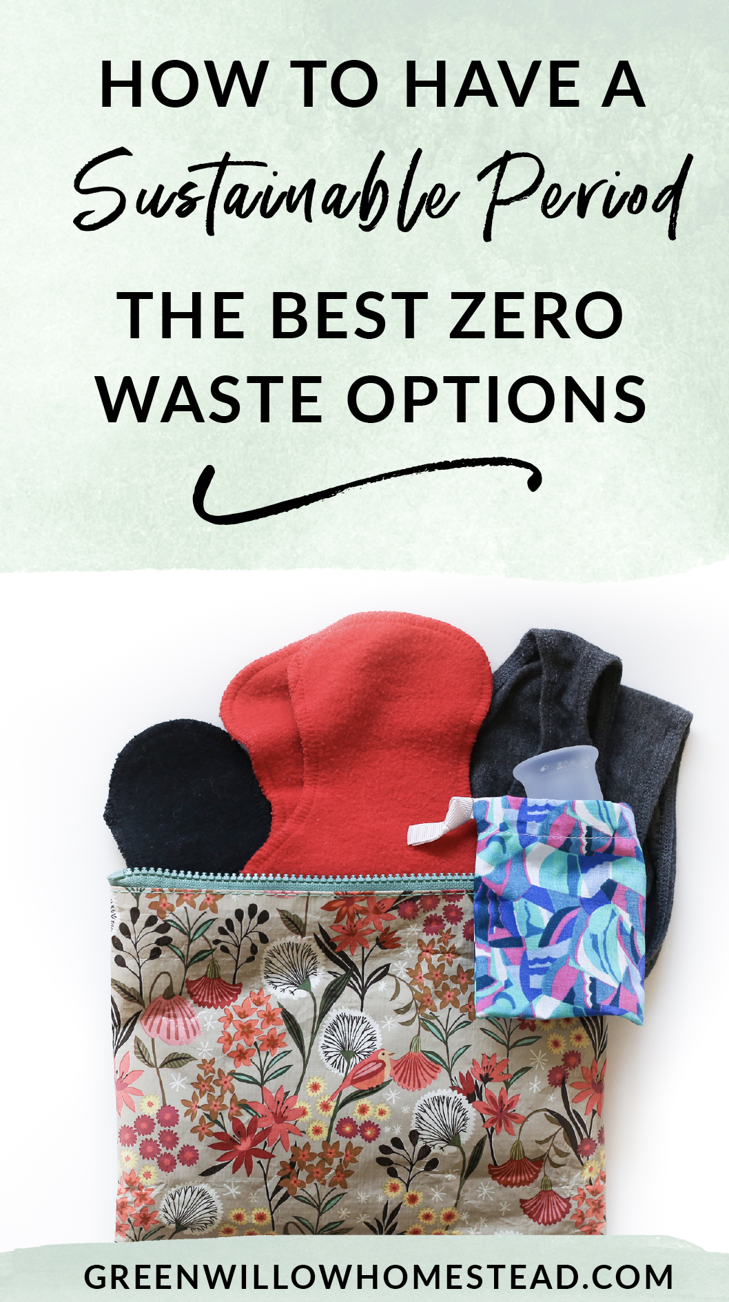 The best zero waste non toxic options for a sustainable menstruation cycle
