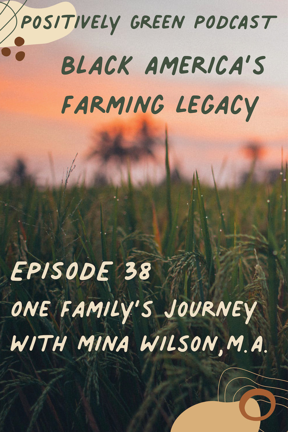 The Positively Green Podcast Episode 38 Black America's Farming Legacy - One Family's Journey with Mina Wilson