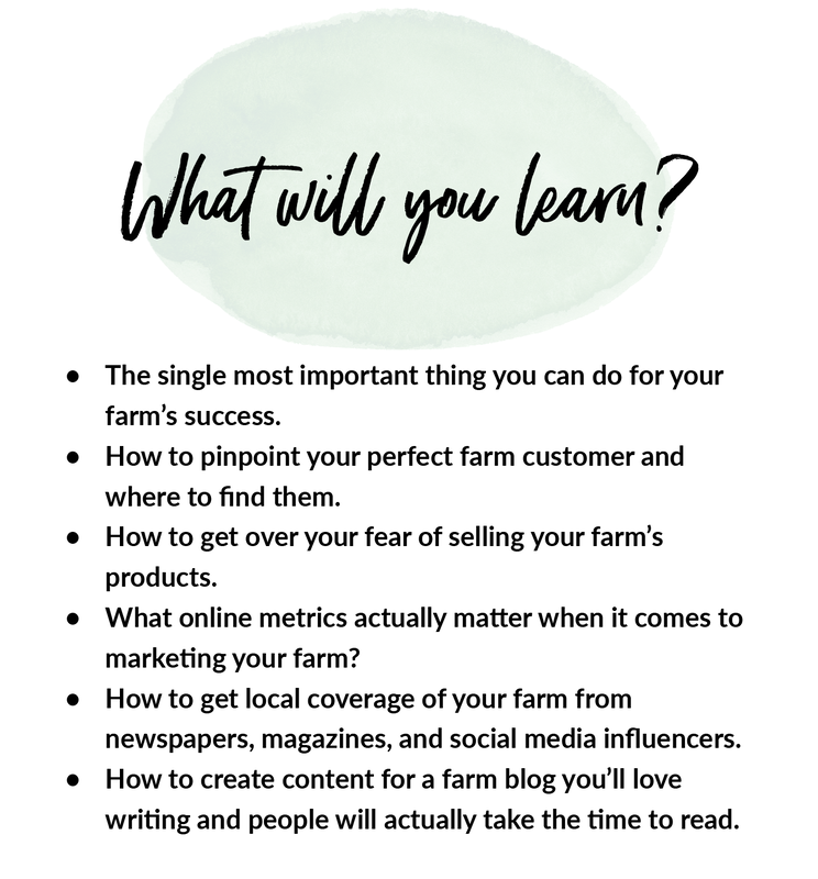 What will you learn from this online marketing for farmers email series